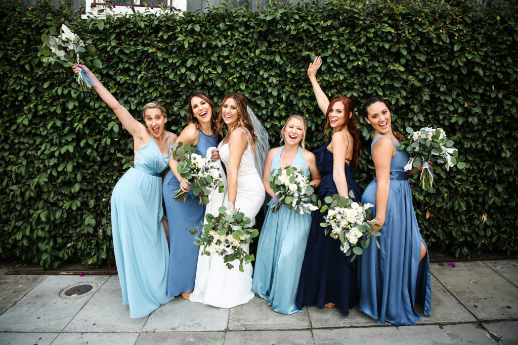Bridesmaids pictures downtown san diego