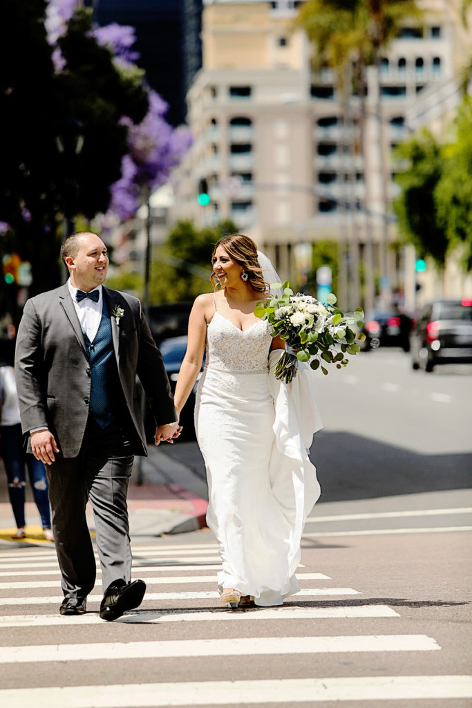 Bride and Groom pictures downtown san diego